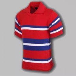 Untitled-1_0046_G. D. Goenka School - Half Sleeve Sports T-Shirt ( Red )