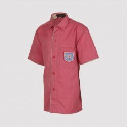 Vanasthali Public School Boys Half Sleeve Shirt ( Red )