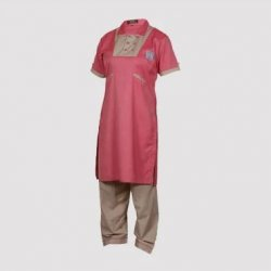 Vanasthali Public School Girls Half Sleeve Kurta ( Red )