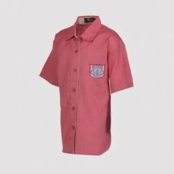 Vanasthali Public School Girls Half Sleeve Shirt ( Red )