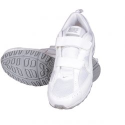 NIKE White Velcro Shoe 4
