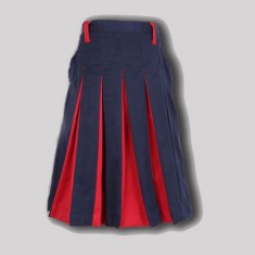 SKIRT WITH US F NAVY BLUE